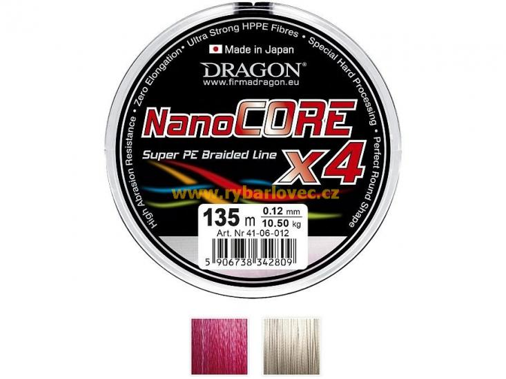 Šňůra Dragon Nanocore X4 0,08mm/135m