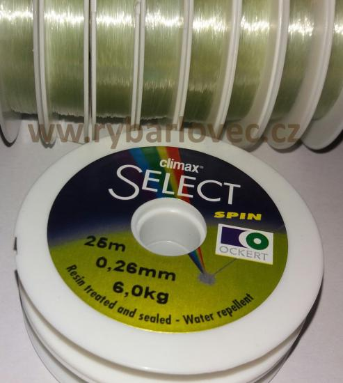 Vlasec CLIMAX SELECT SPIN 0,26mm/6,0kg/25m