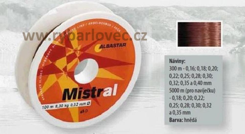 Vlasec ALBASTAR Mistral 0,32mm/8,20kg/300m