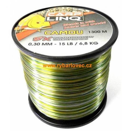 Vlasec Carp Linq Camou Green 0,30mm/6,8kg/1300m
